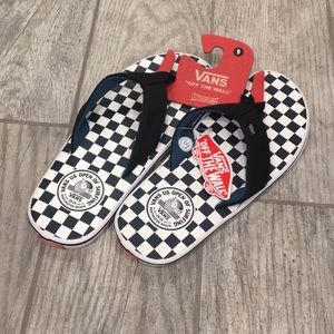 Vans checkerboard sandals navy flip flops